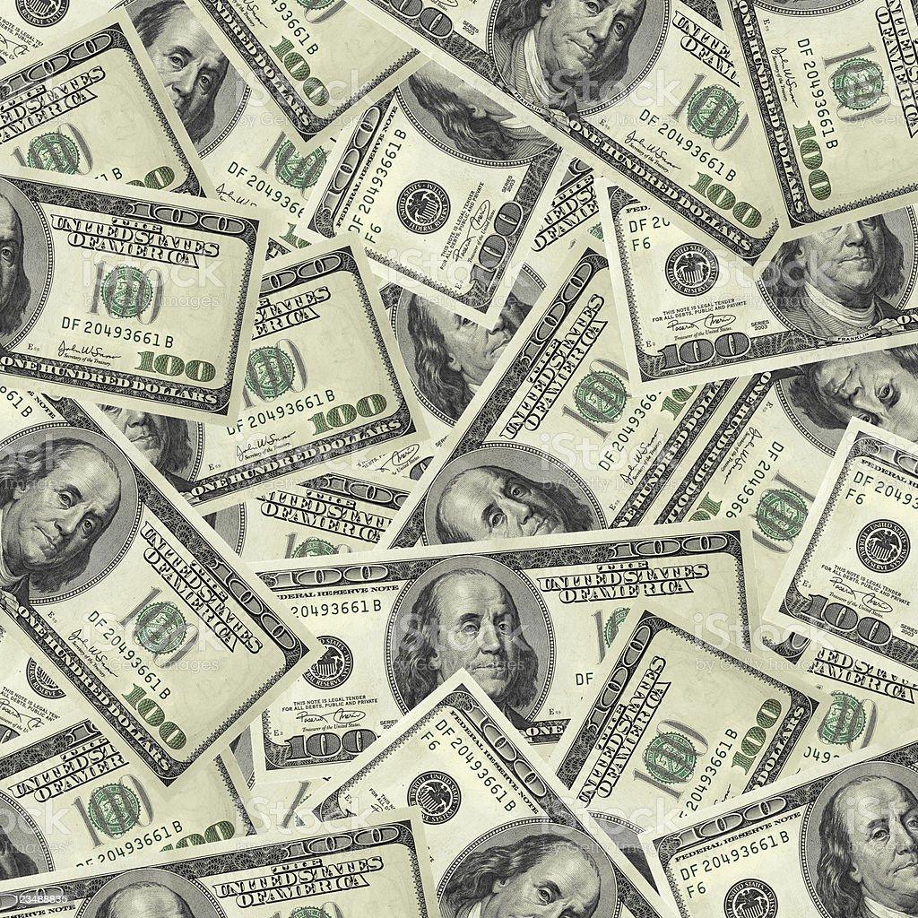 lots of hundred dollar bills XXL royalty-free stock photo