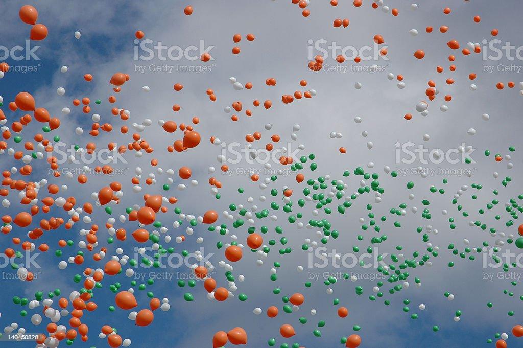 Lots of Irish Balloons royalty-free stock photo