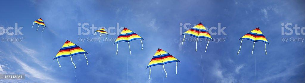 Lots of kites in blue sky stock photo