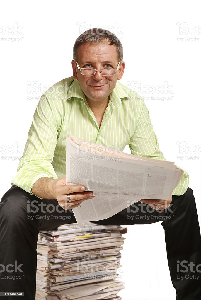 Lots of news royalty-free stock photo