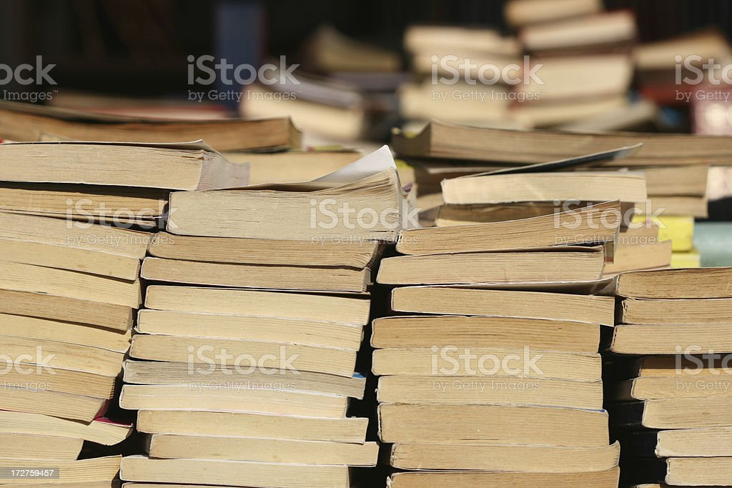Lots of old books royalty-free stock photo