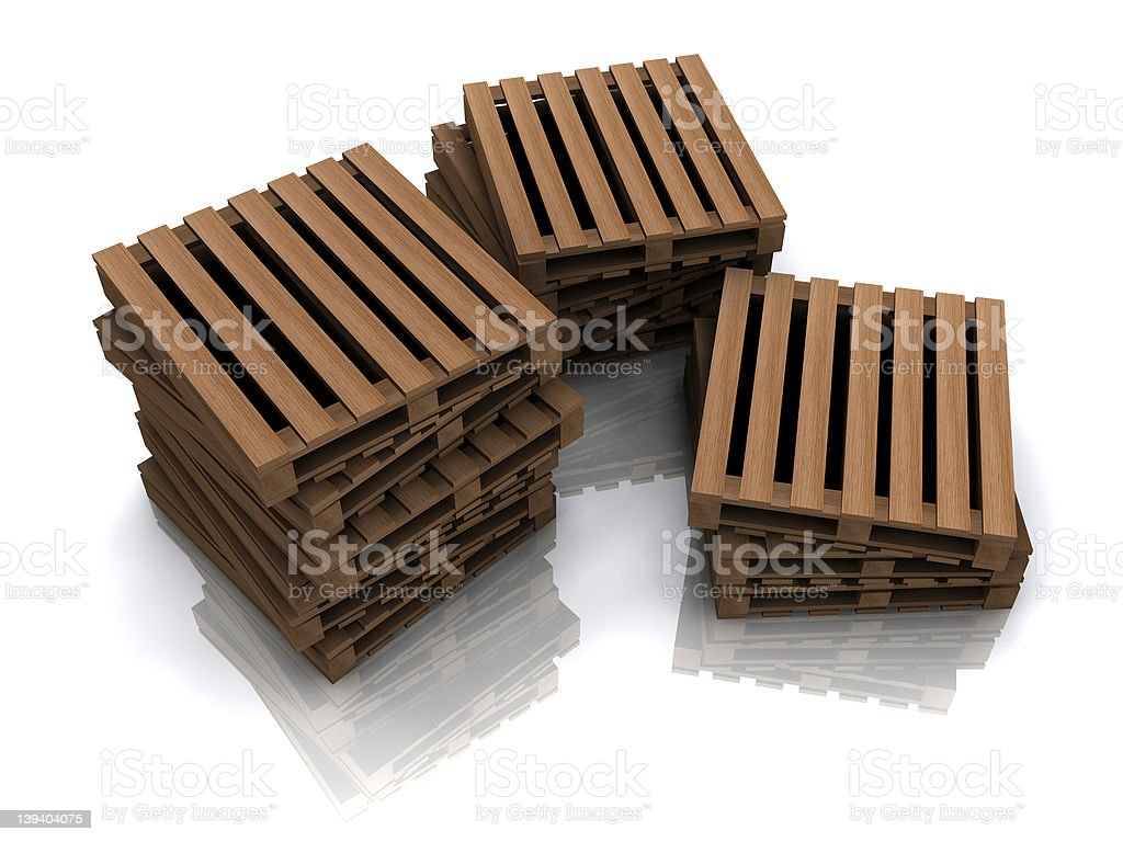 lots of palettes stock photo