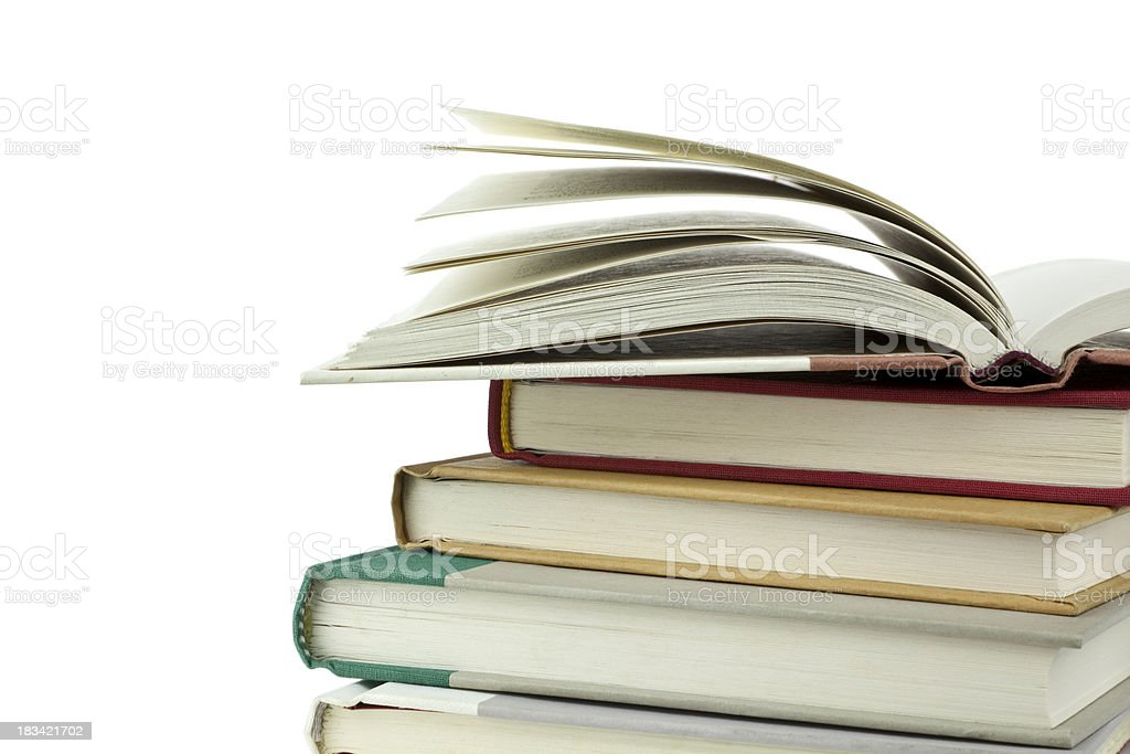 Lots Of Reading To Do. royalty-free stock photo