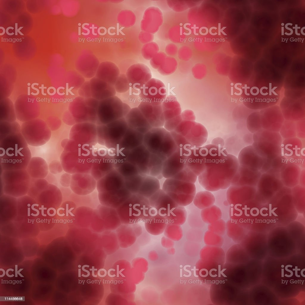 Lots of red blood cells being analyzed stock photo