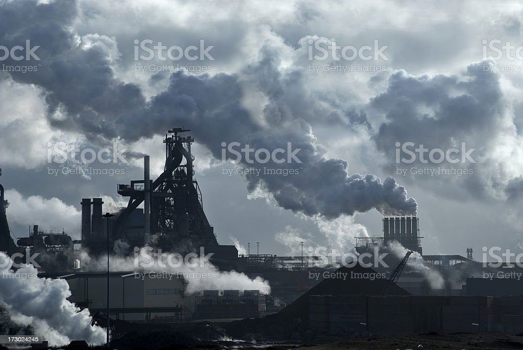 Lots of Smoke royalty-free stock photo