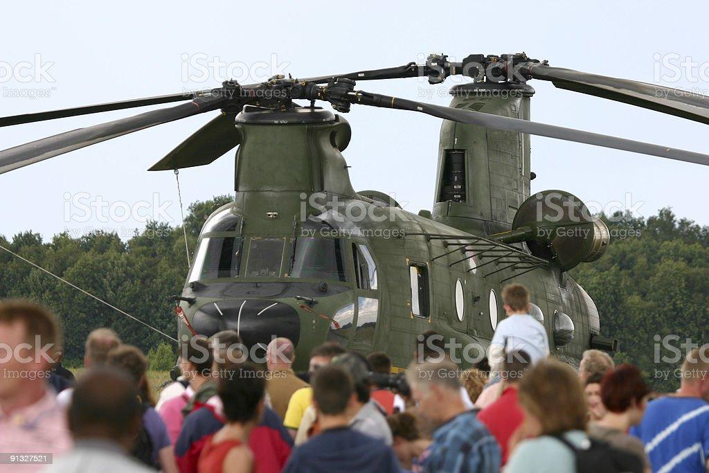 Lots of visitors at airshow royalty-free stock photo