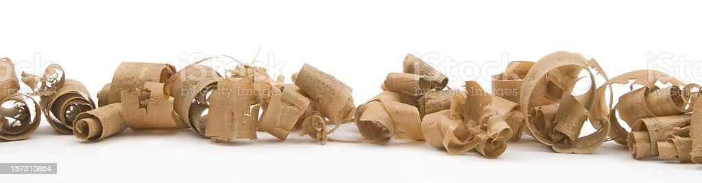 Lots of Wood Shavings from woodworking royalty-free stock photo