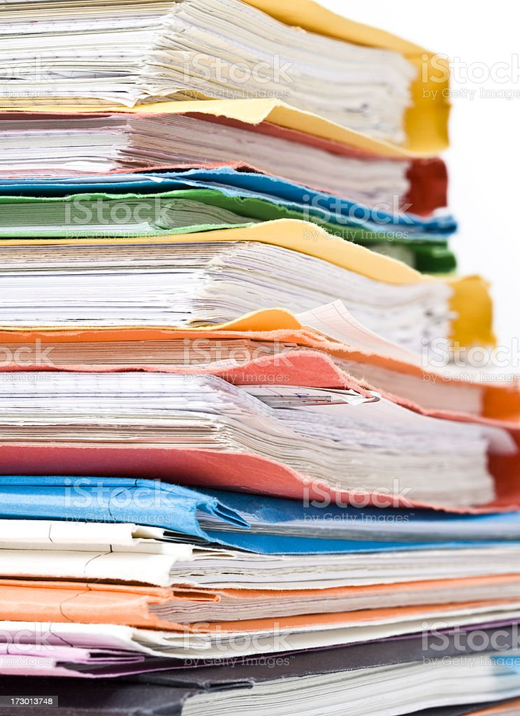 Lots of Work royalty-free stock photo