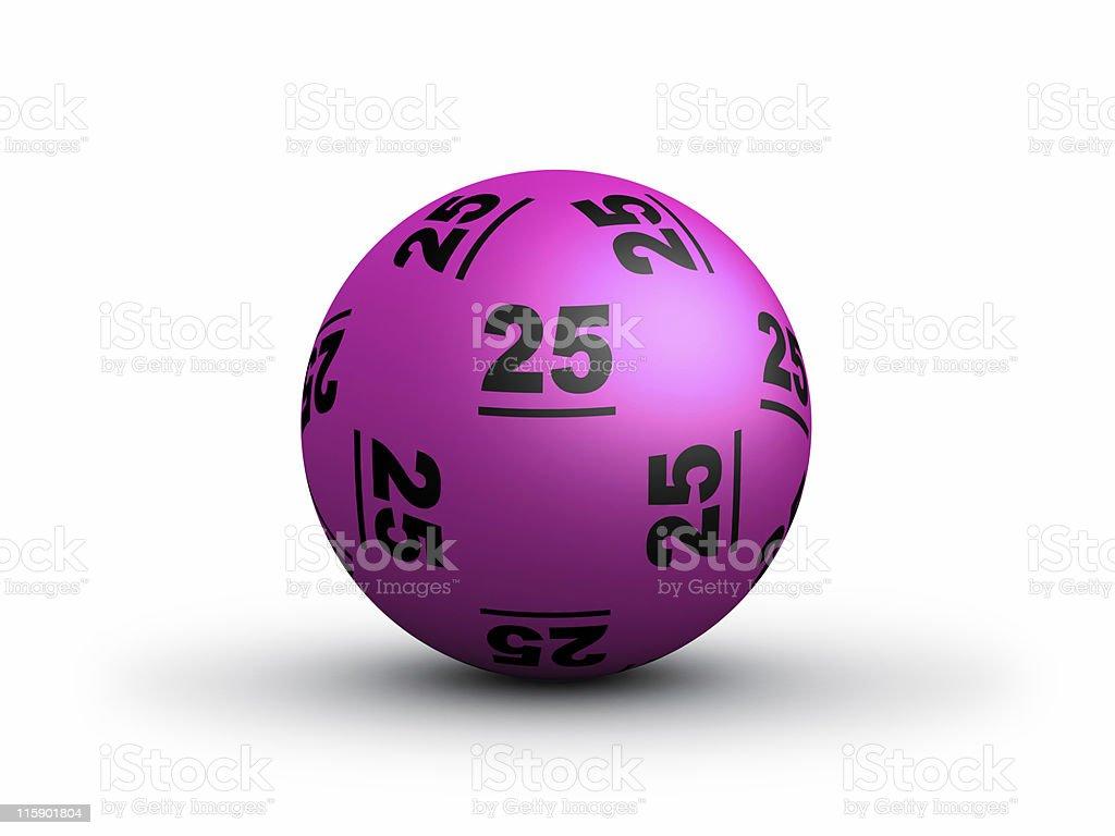 Lottery Ball royalty-free stock photo