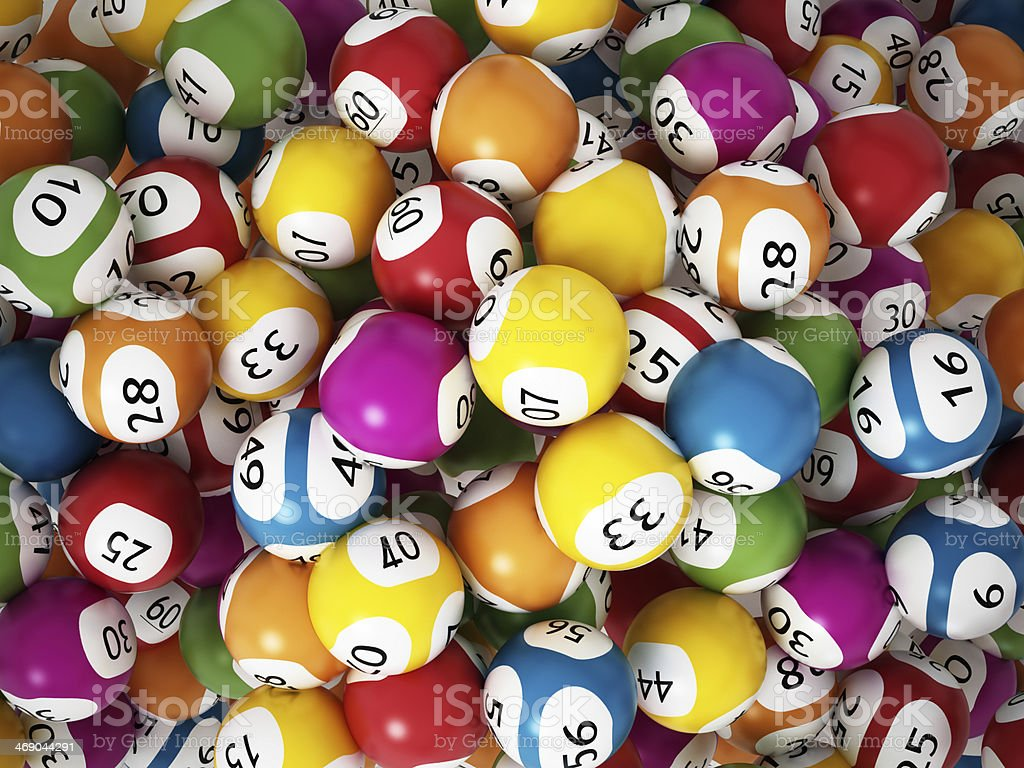 Lottery balls stock photo