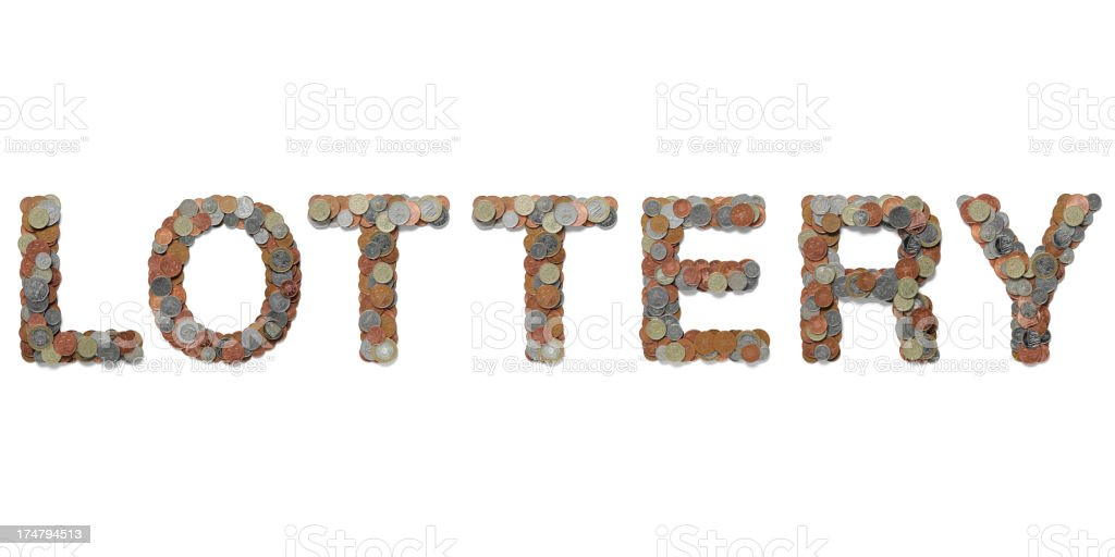 Lottery in British Coins royalty-free stock photo
