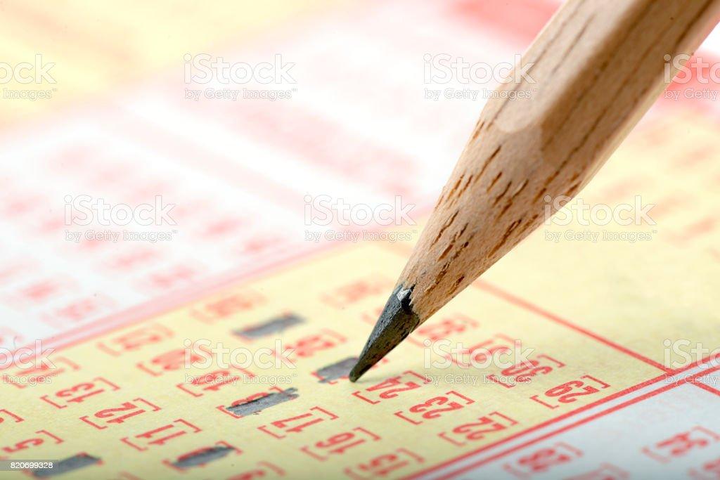 Lottery Ticket Isolated stock photo