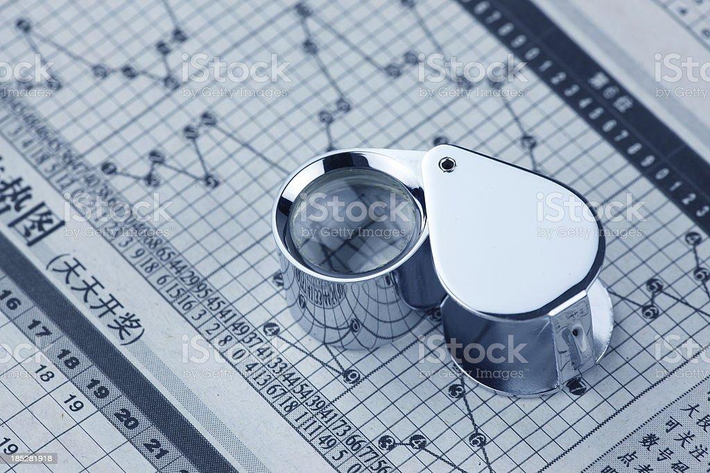 Lotto Analysis royalty-free stock photo