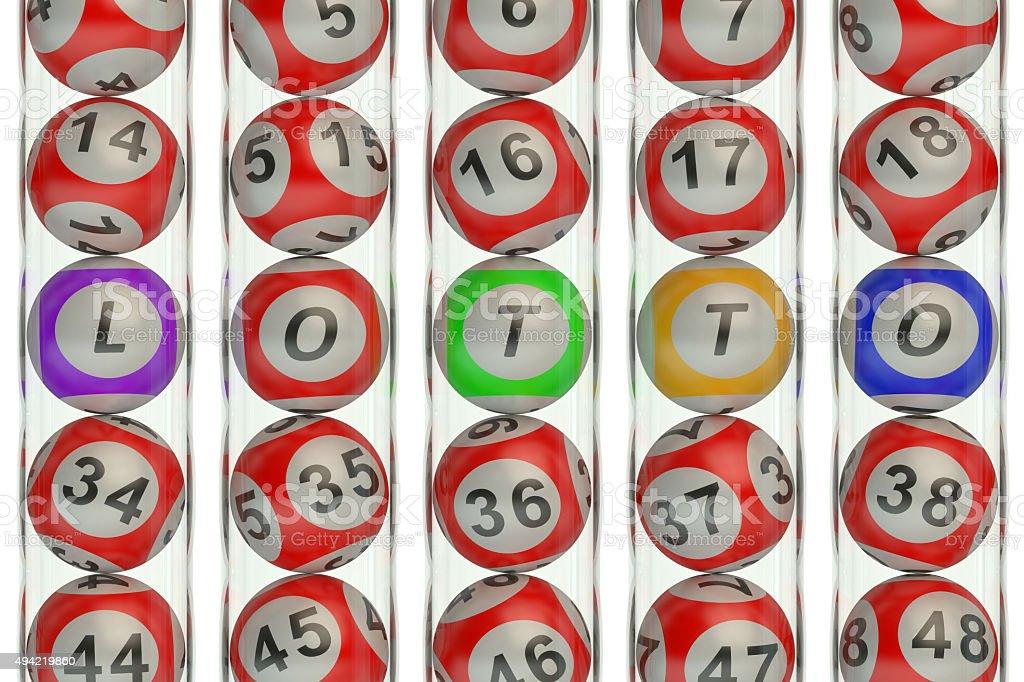 Lotto concept stock photo
