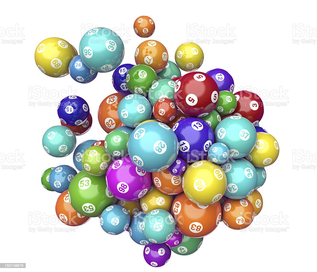 Lotto Numeric Balls stock photo