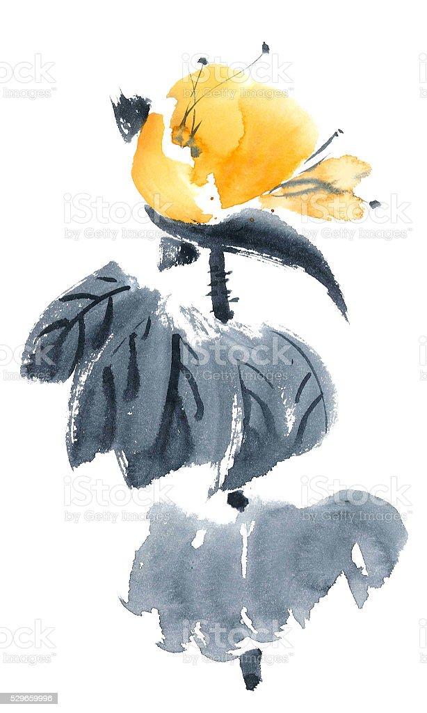 Lotus bud. Flowers illustration.. stock photo