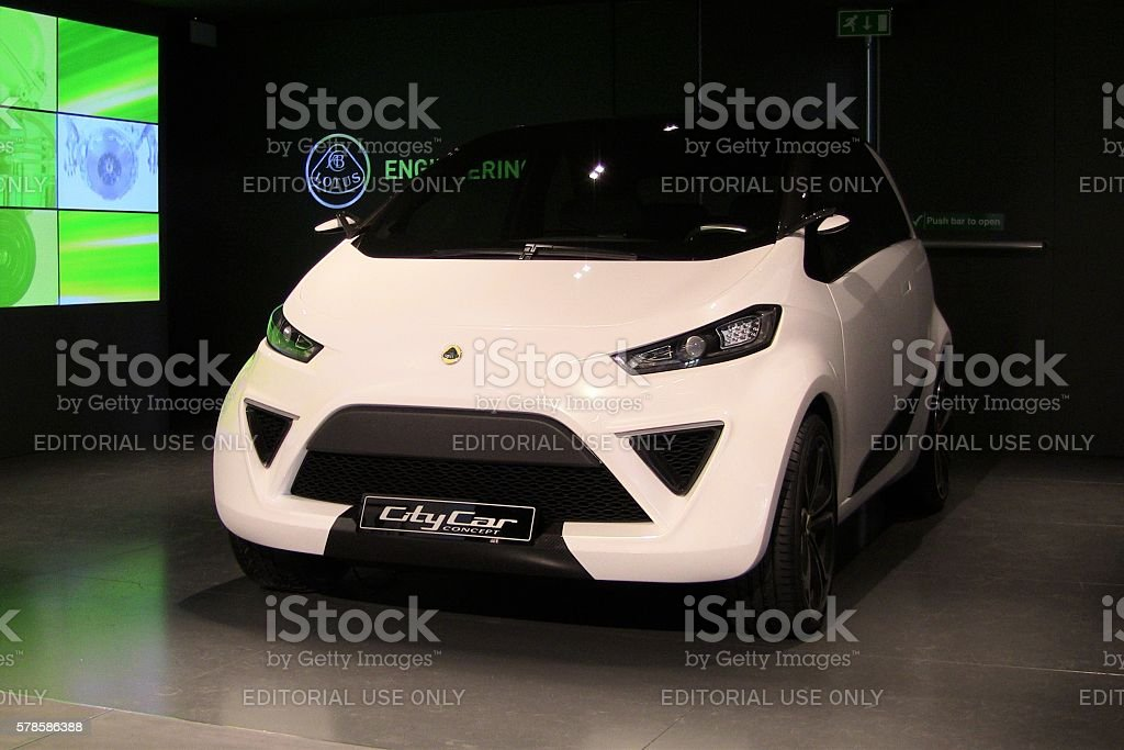 Lotus CityCar concept on the motor show stock photo