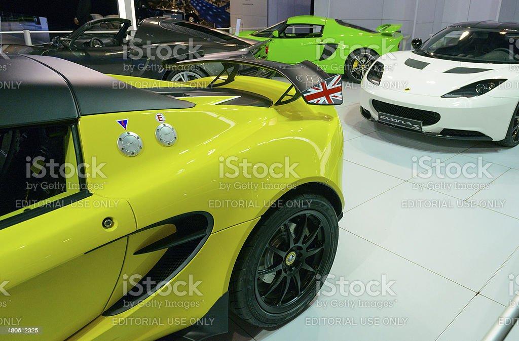 Lotus Elise and Evora stock photo