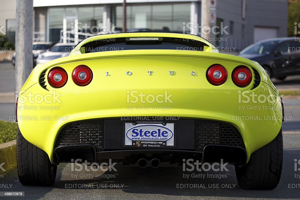 Lotus Elise from behind stock photo