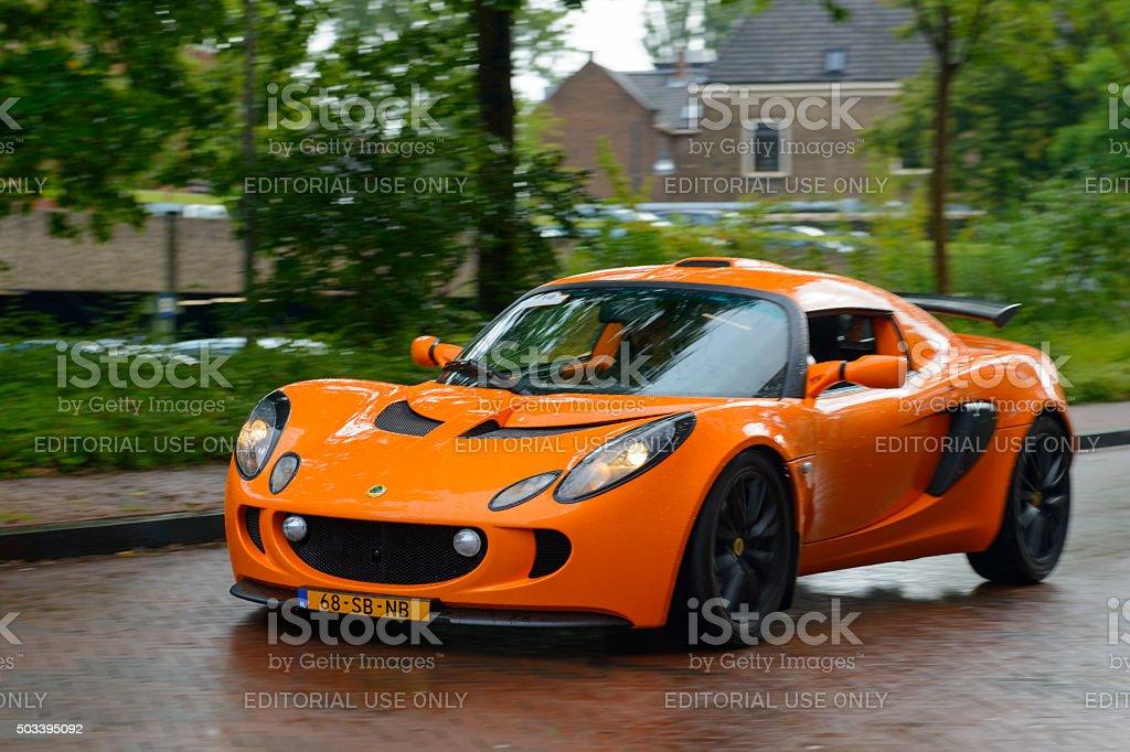 Lotus Exige sports car stock photo