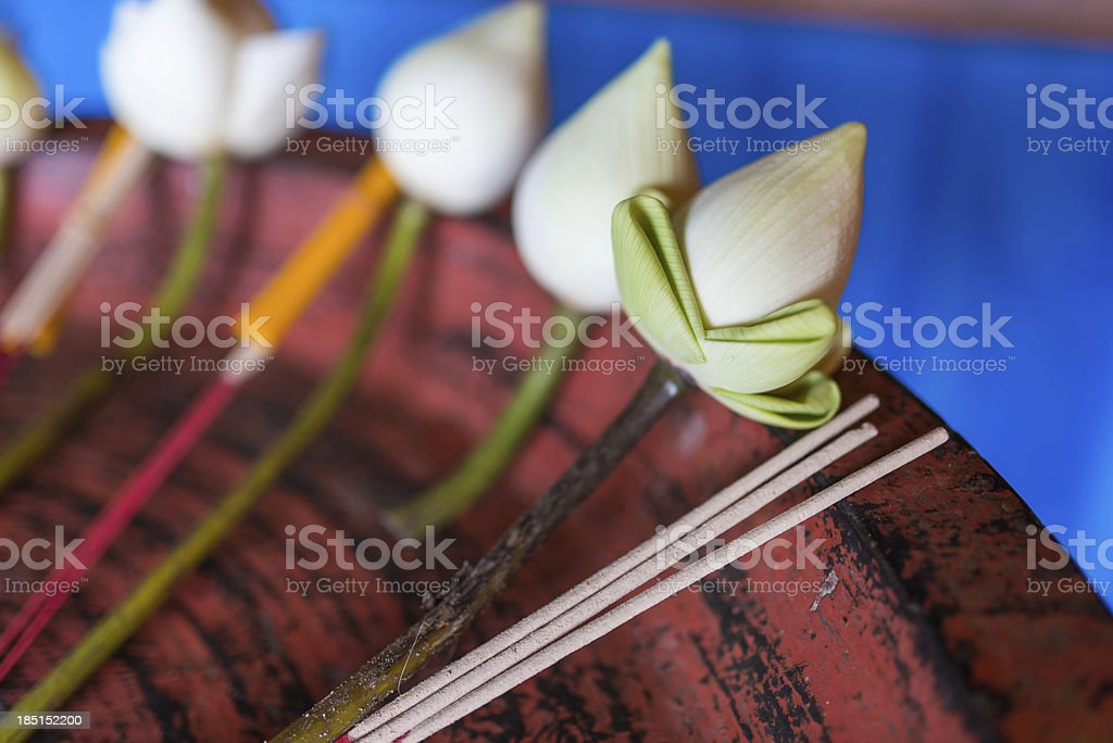 lotus incense joss stick royalty-free stock photo