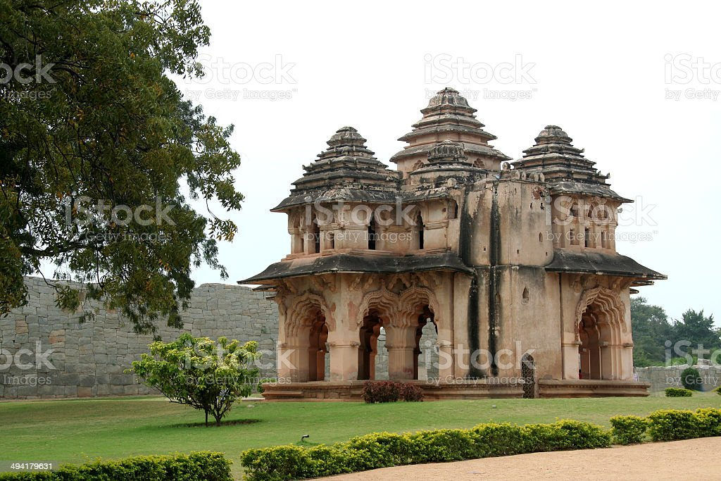 Lotus Mahal at Hampi stock photo