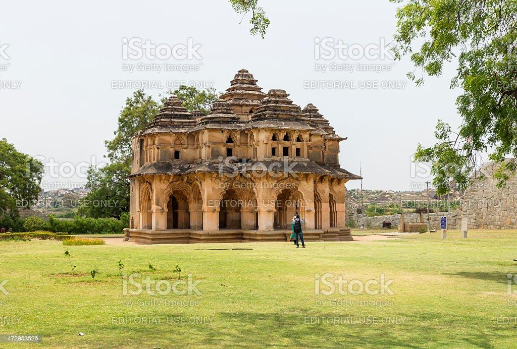 Lotus Mahal, Hampi, India stock photo