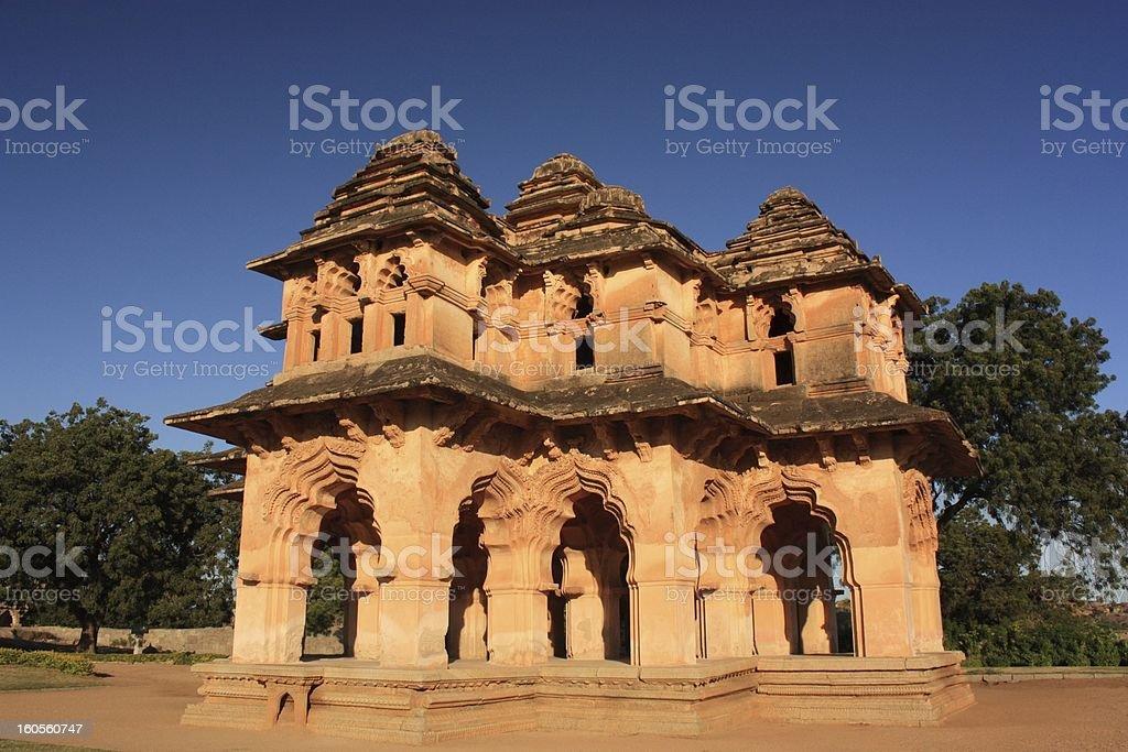 Lotus Mahal in Hampi, India. stock photo