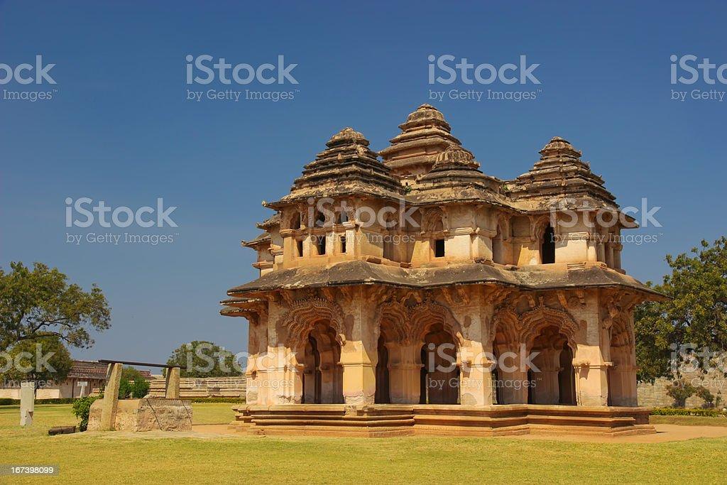 Lotus Mahal in Hampi, India stock photo