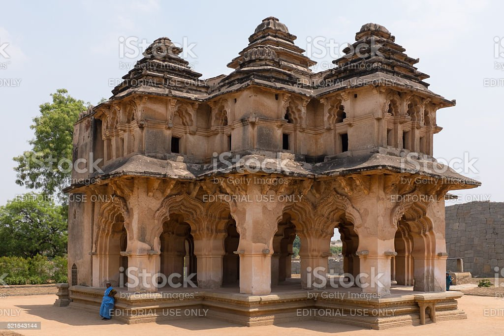 Lotus Mahal in Hampi, Karnataka in India stock photo