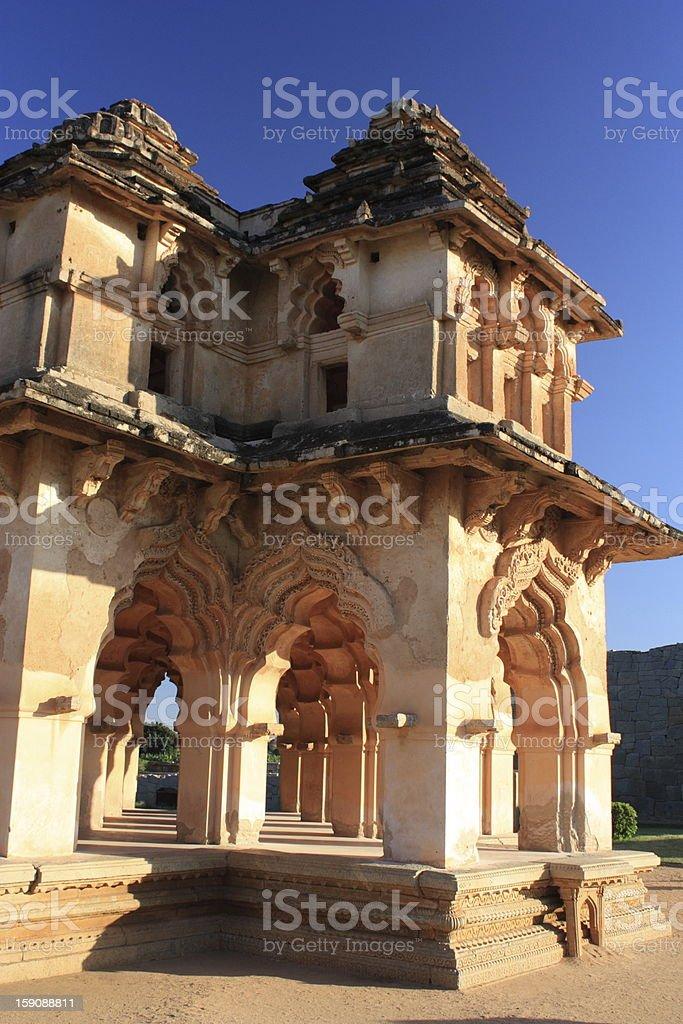 Lotus Mahal in Hampi, Karnataka state, India. stock photo