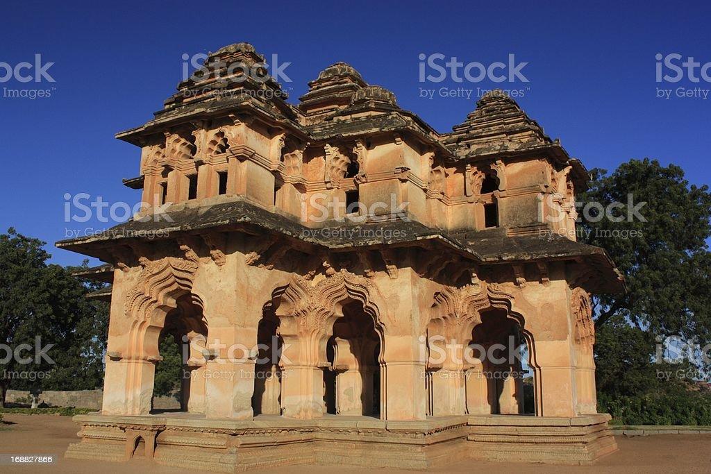 Lotus Mahal, India. stock photo