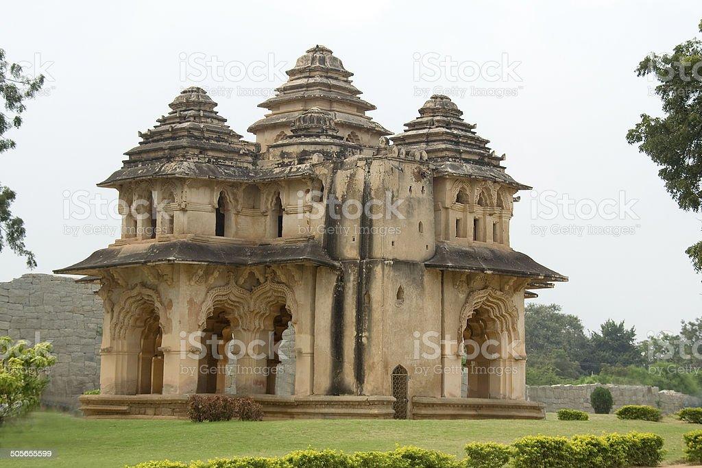 Lotus Mahal Palace stock photo