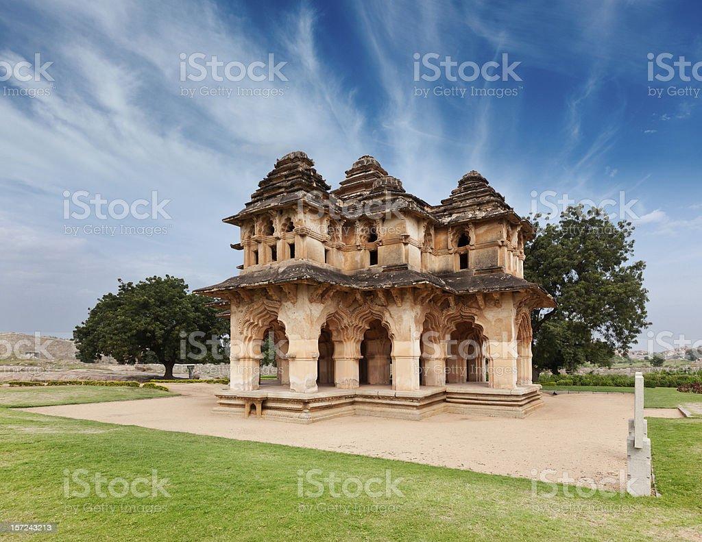 Lotus Mahal stock photo