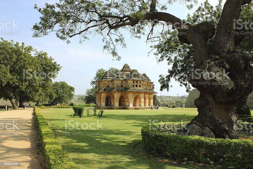 Lotus palace (Mahal) in Hampi stock photo