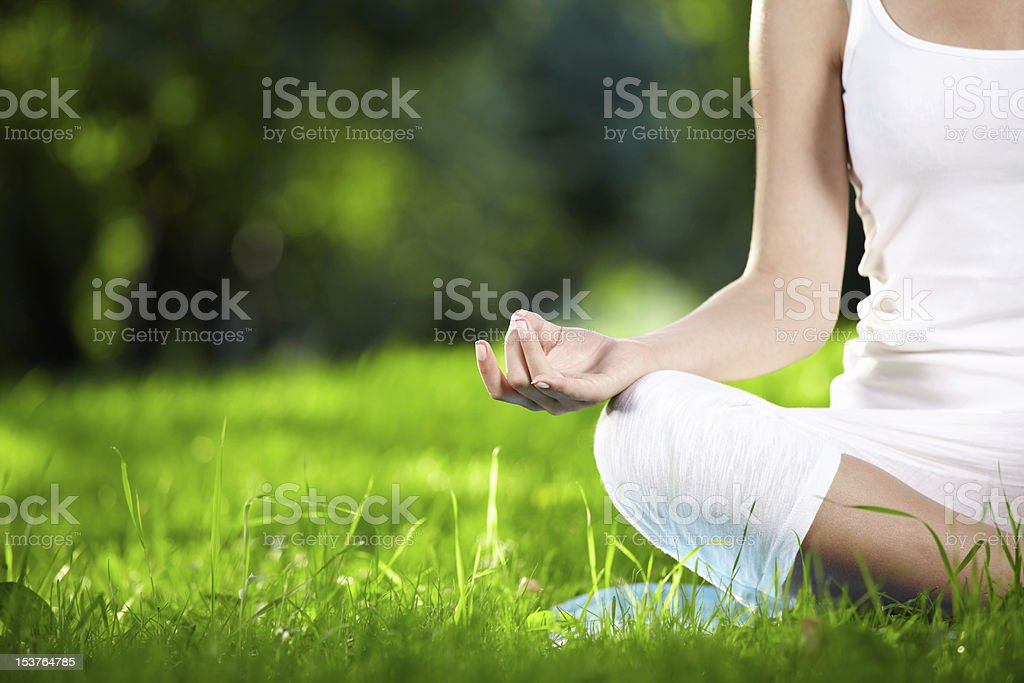 Lotus Pose stock photo