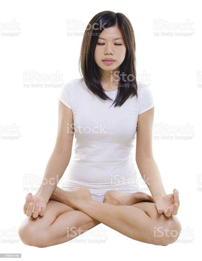 Lotus position royalty-free stock photo