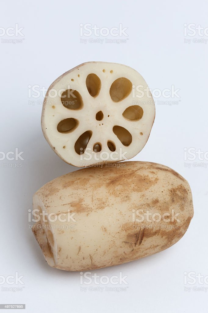 Lotus root stock photo