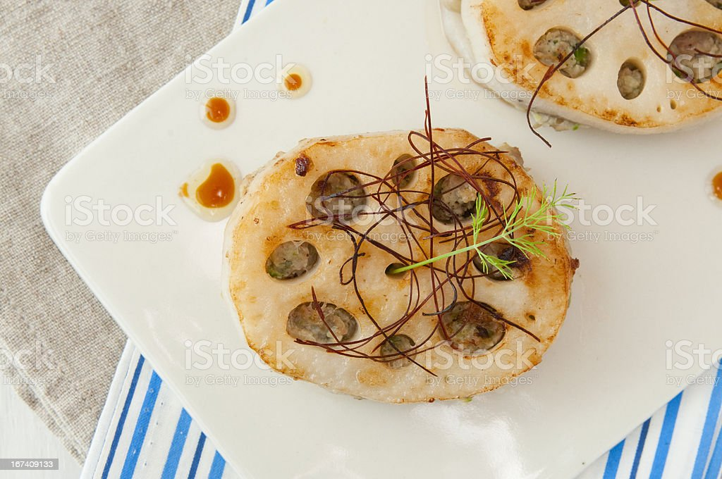 lotus root with meat royalty-free stock photo