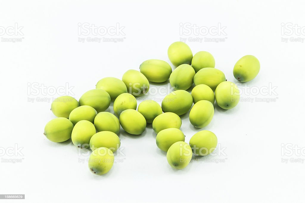 Lotus seeds green Isolated royalty-free stock photo