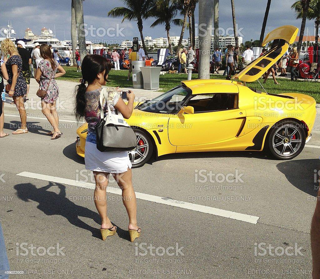Lotus sports car royalty-free stock photo