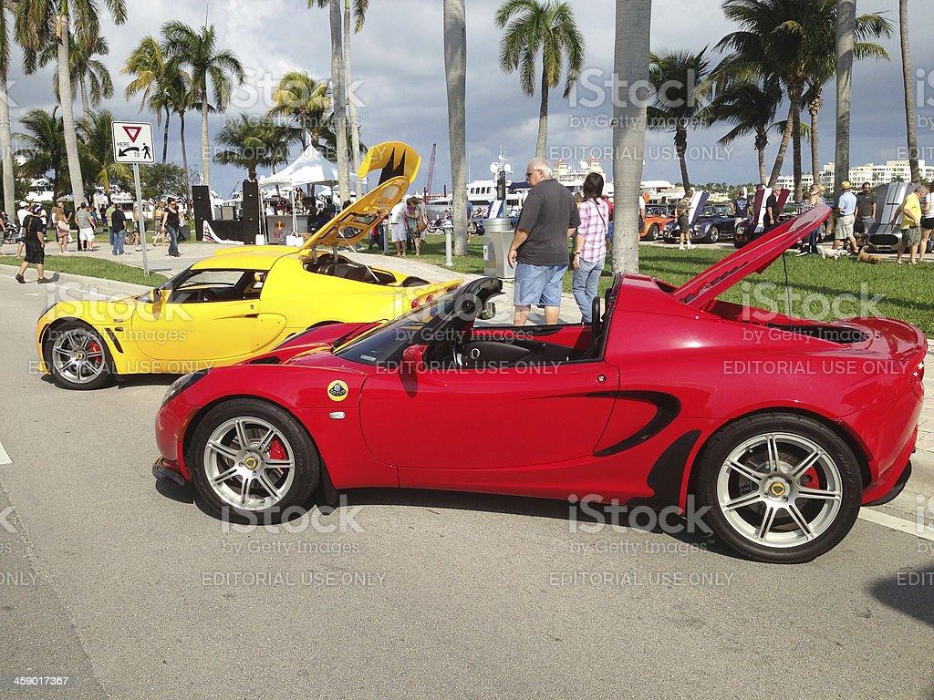 Lotus sports cars royalty-free stock photo
