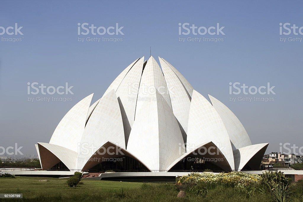 Lotus Temple in New Delhi, India royalty-free stock photo