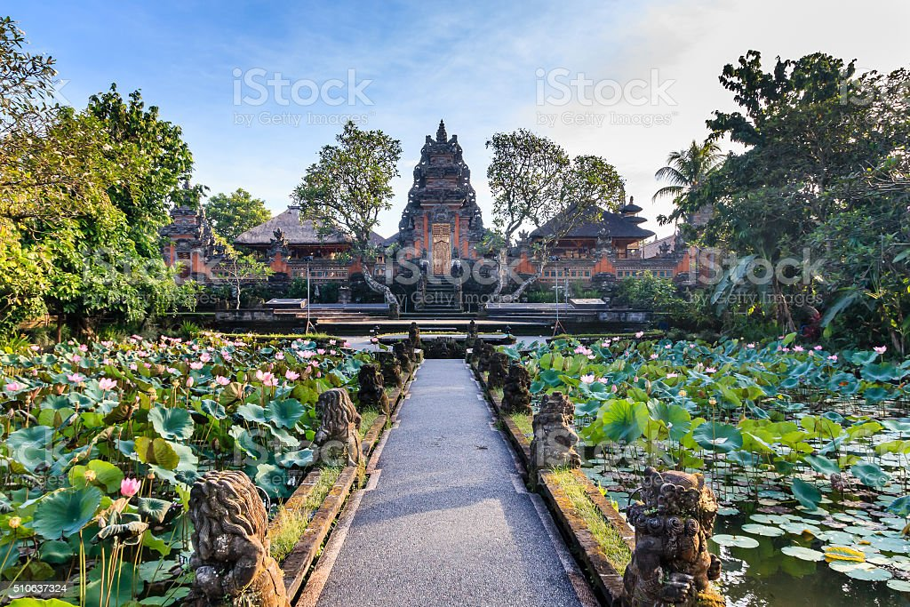 Lotus Temple (Ubud) in the early morning stock photo