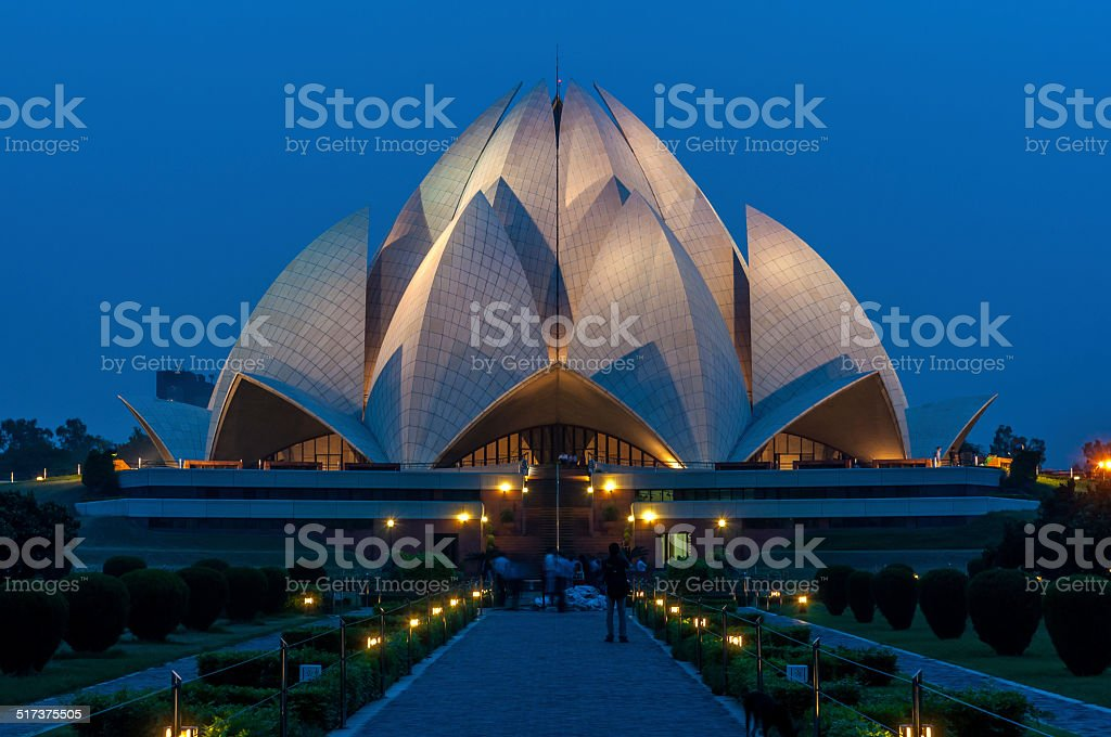 Lotus Temple stock photo