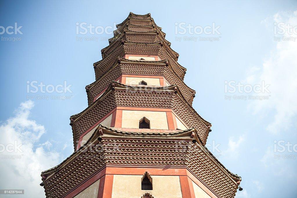 Lotus Tower in Guangzhou stock photo