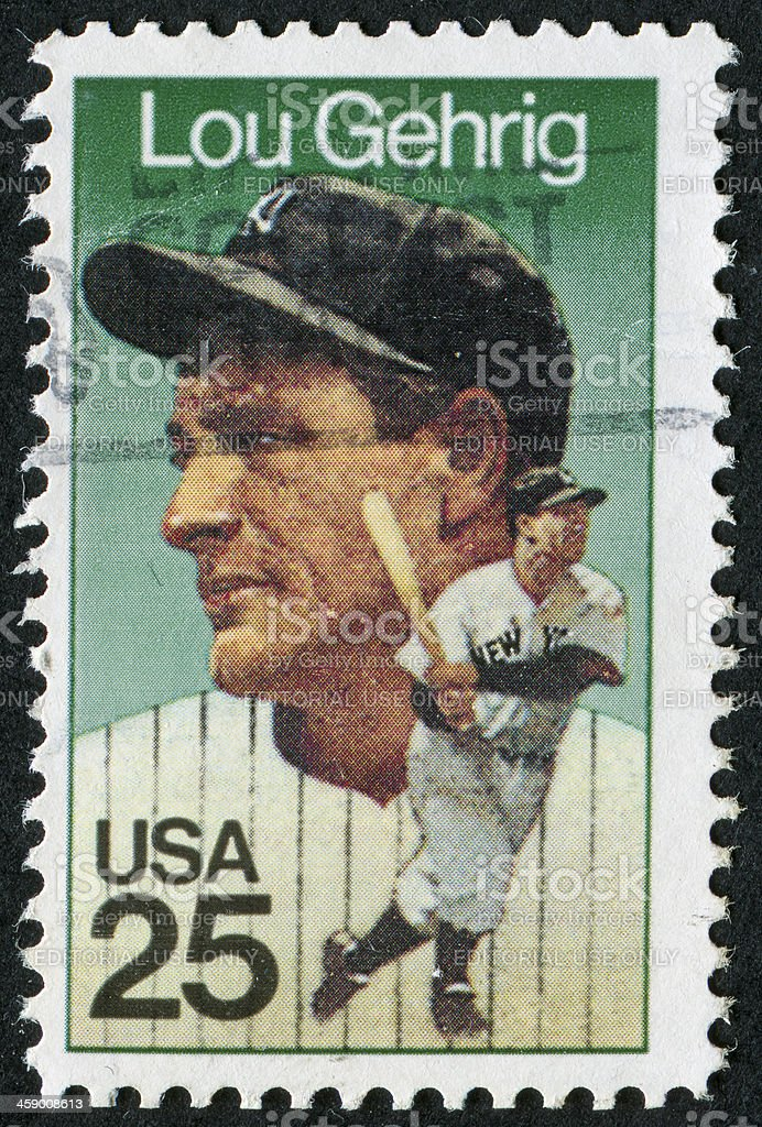 Lou Gehrig Stamp royalty-free stock photo