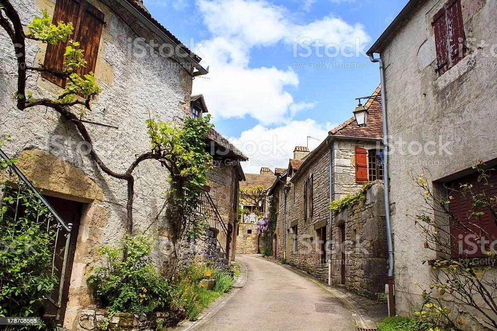 Loubressac village, France stock photo