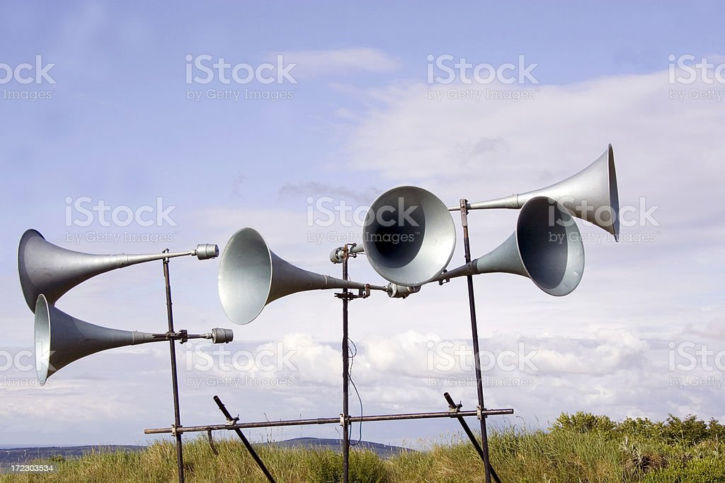 loud announcement royalty-free stock photo