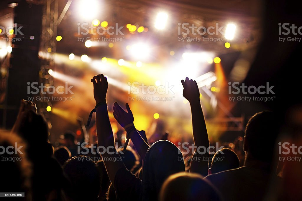 Loud party stock photo